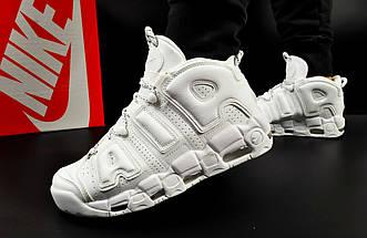 Мужские Кроссовки Nike Air More Uptempo арт 20614 (мужские, белые, найк), фото 2
