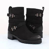 Ботинки женские кожаные нубук  зимние Viko