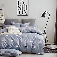 Сатиновое постельное бельё (12471) двуспальное евро 200*220 хлопок, фото 1