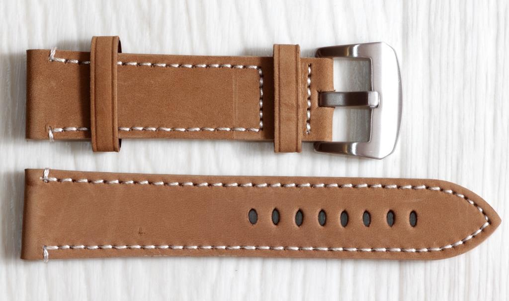 Ремешок для часов BROS (ИТАЛИЯ) из натуральной кожи. Светло коричневый 24 мм