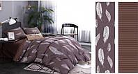 Сатиновое постельное бельё (12476) двуспальное евро 200*220 хлопок, фото 1