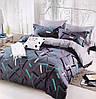 Сатиновое постельное бельё (12481) двуспальное евро 200*220 хлопок