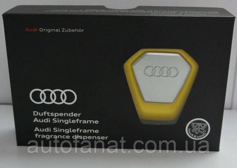 Оригинальный ароматизатор воздуха в салон Audi Singleframe Fragrance Dispenser, Yellow/Silver (80A087009B)