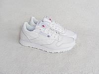 Кроссовки Reebok classic leather white женские белые
