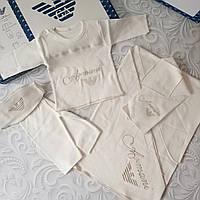 Комплект Armani на выписку, в роддом, на крещение, 5 предметов, фото 1