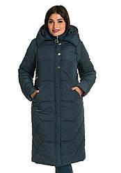 Пальта зимові жіночі великого розміру 48-66 малахіт