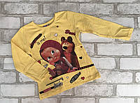 """Кофта детская для девочки """"Маша"""" 1-8лет, желтого цвета"""