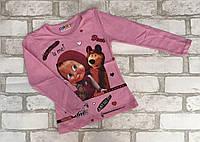 """Кофта детская для девочки """"Маша"""" 1-8лет, светло-розового цвета"""