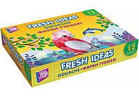 """Краска гуашевая """"Fresh Ideas"""", 12 цветов"""