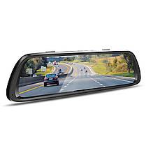 """Автомобильное зеркало видеорегистратор 10"""" Lesko Car K62 с камерой заднего вида 1080P WDR ночная съемка, фото 2"""