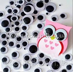 (20 грамм,d=25мм) Подвижные глазки для игрушек d=25мм (прим.45-50 глазок)