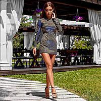 Платье-комбинезон с люрексом