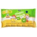 Детские влажные салфетки 30 шт Хеппи с экстрактом киви и банана Bella Baby Happy