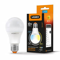 24554 LED лампа VIDEX  A60eC3 10W E27 3000K-6200K 220V VL-A60eC3-1027 с регулятором яркости
