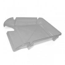 Лоток для паперів горизонтальний Economix, пластик, сірий