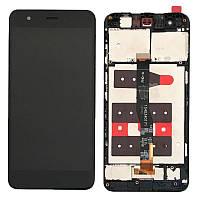 Дисплей для Huawei Nova (CAN-L01/CAN-L11) + тачскрин, черный, без микросхемы, с передней панелью, #1540340171 FHD-A