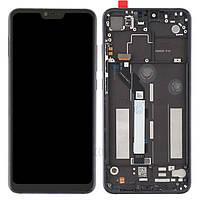 Дисплей для Xiaomi Mi8 Lite/Mi8X + тачскрин, черный, с передней панелью, оригинал (Китай)