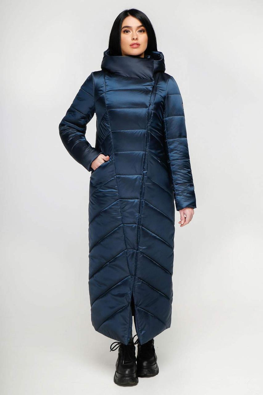 Женский длинный зимний пуховик - одеяло