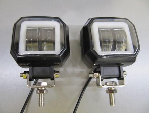 Дополнительные LED фары GV-20W СТГ квадратные, с ДХО - 2шт.(8776)