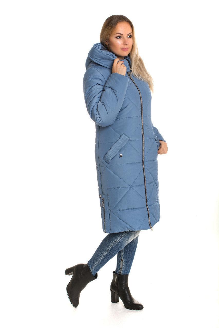Куртки парки женские зимние модные  42-60 джинс