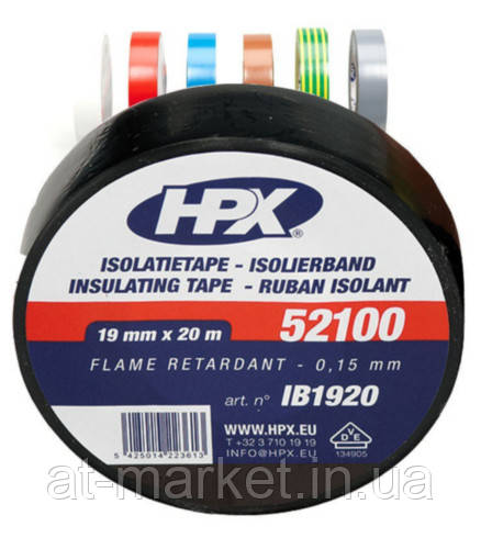Изоляционная лента HPX 52100 19мм x 20м Черная