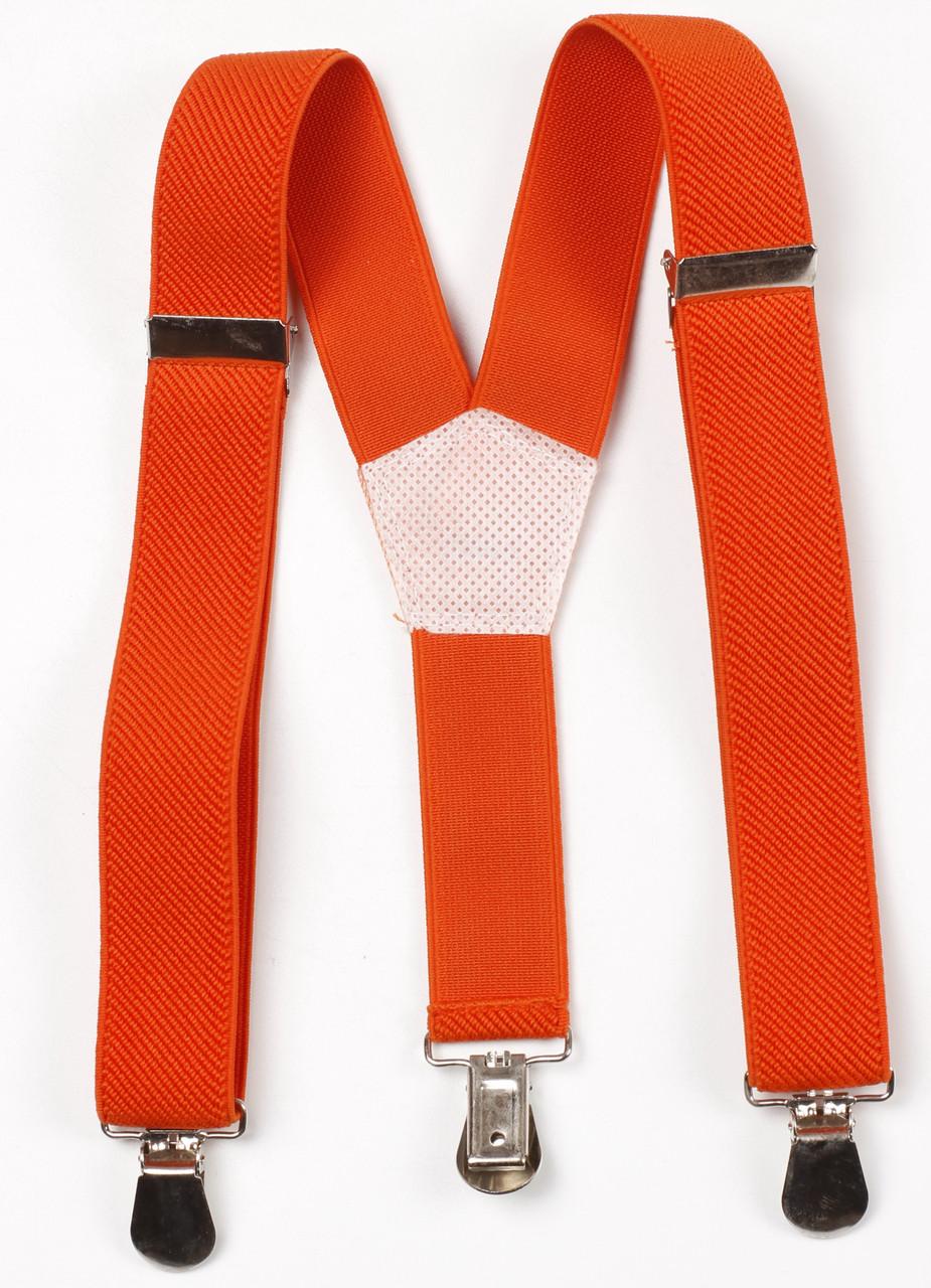Подтяжки детские Y25 Top Gal оранжевые однотонные цвета в ассортименте