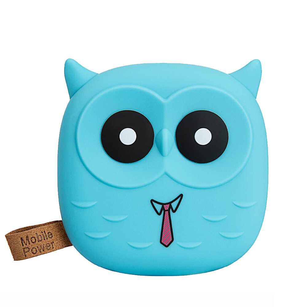 Power Bank Owl Blue 6000mАh USB 2x1A