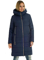 Зимова жіноча куртка без хутра 42-56 синій