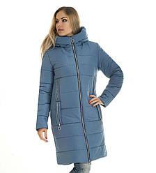 Зимова жіноча куртка модна 42-56 джинс
