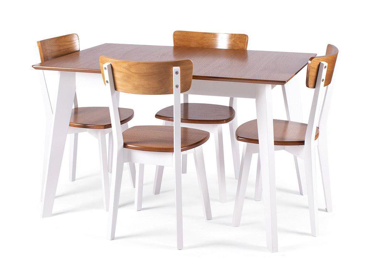 Кухонный, деревянный комплект  -Стол Ахен + 4 стула Ельбе