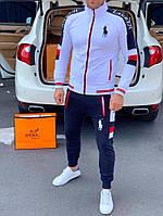 Спортивный костюм Polo by Ralph Lauren D147 сине-белый