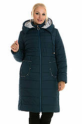 Зимове жіноче пальто без хутра 48-62 малахіт
