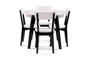 Кухонный, деревянный комплект -Стол Любек + 4 стула Ельбе