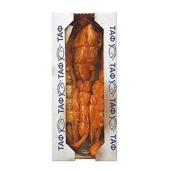 Семга брюшки горячего копчения. Ящик 1 кг