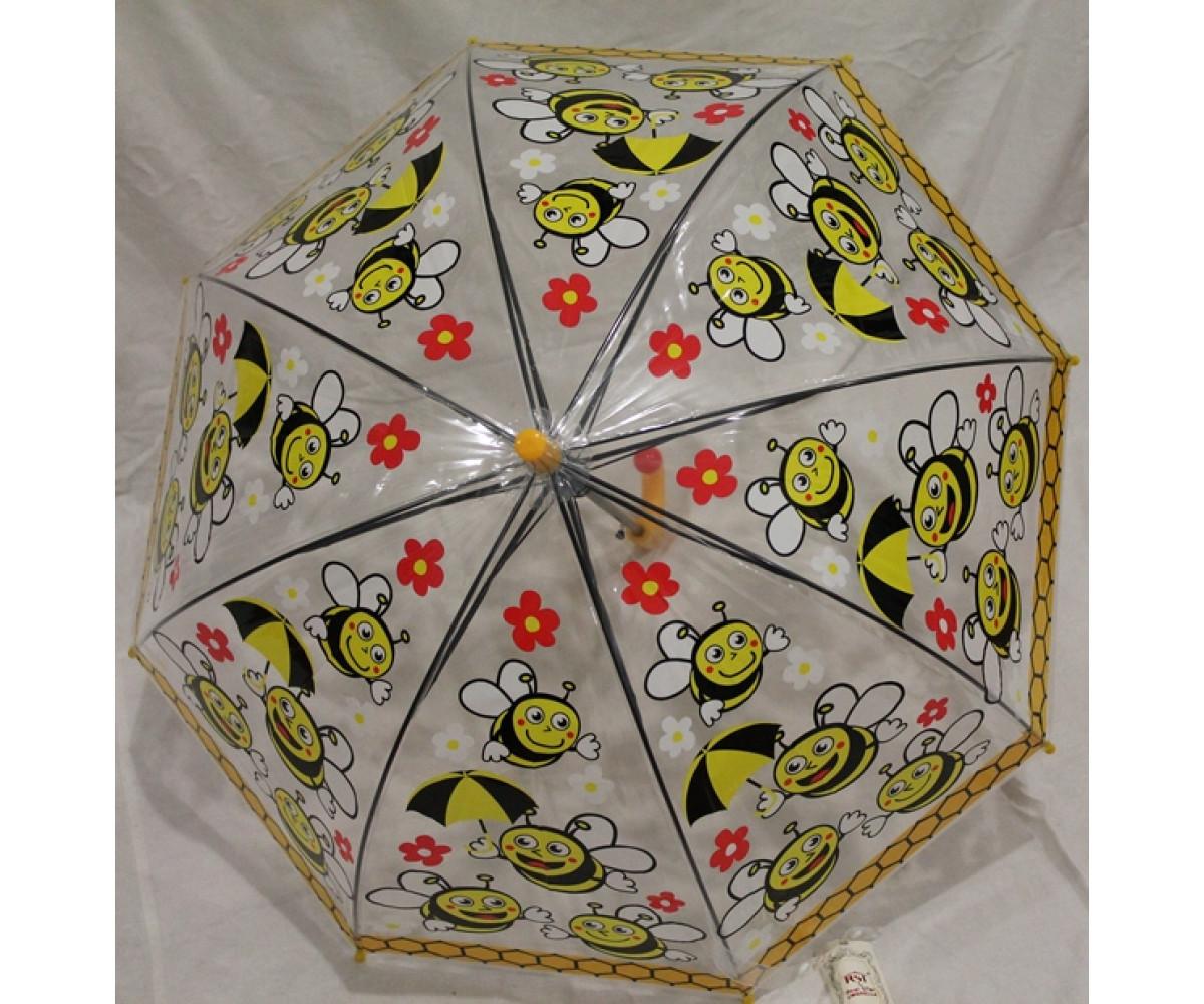 Детский зонт грибком RST полуавтомат пчёлки