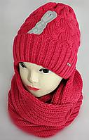М 5053 Комплект жіночий-підлітковий шапка+хомут, марс,фліс, фото 1