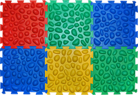 Коврик массажный Пазлы 6 элементов, фото 1