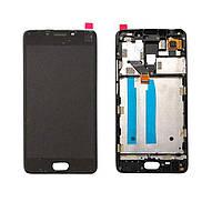 Дисплей для Meizu M6 Note (M721H) + тачскрин, черный, с передней панелью