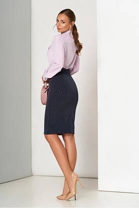 Синяя юбка карандаш в полоску, фото 3