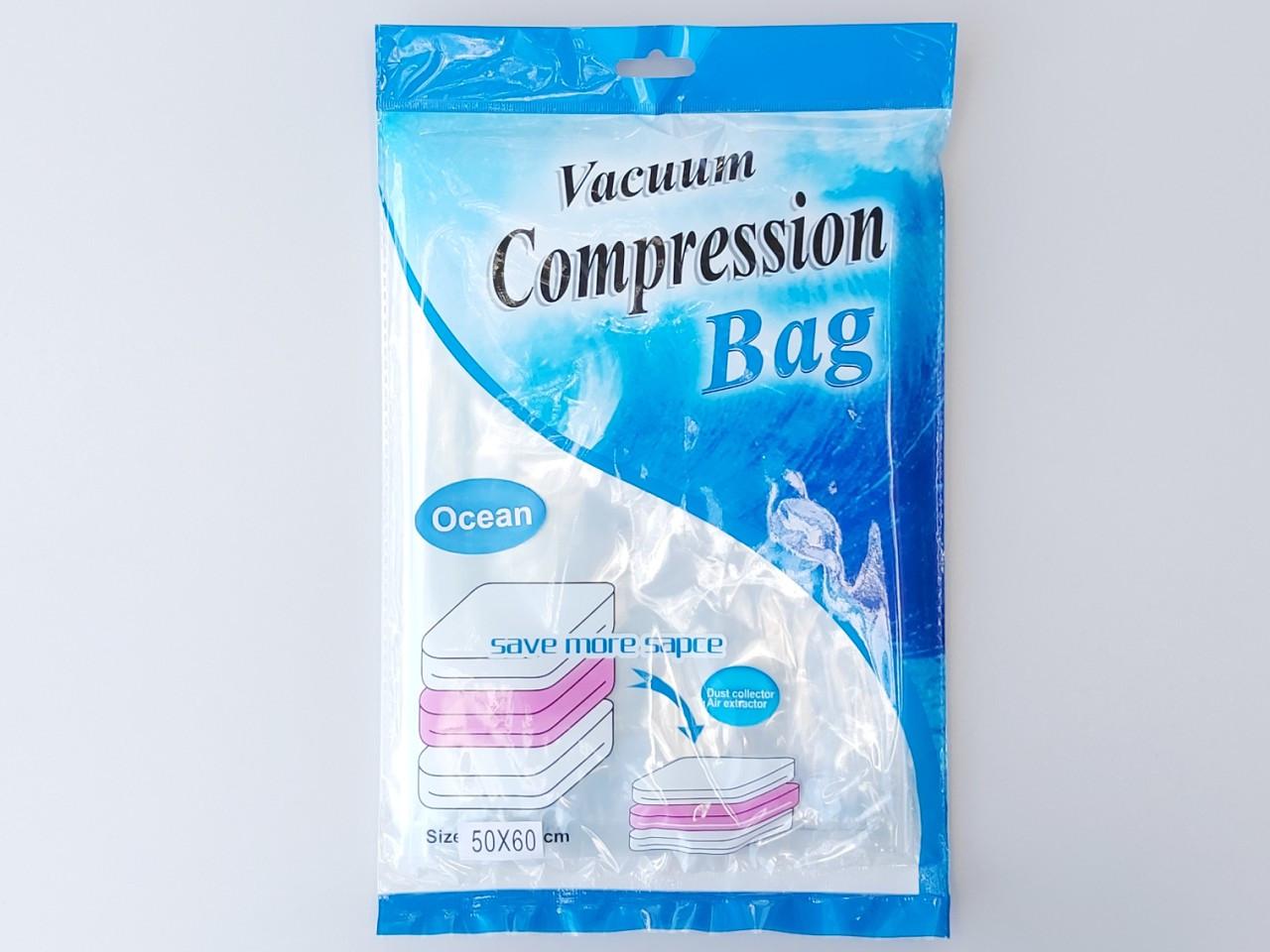 """Вакуумный пакет с клапаном для упаковки и хранения одежды ароматизированный """"Океан"""". Размер 50*60 см"""