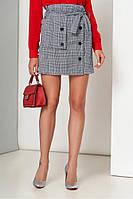 Классическая юбка c высокой талией в 2х цветах AZ-173