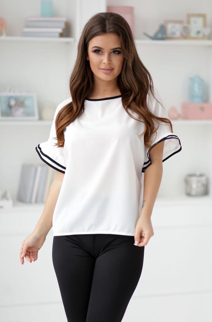 Элегантная белая женская блузка без рукав НОРМА42,44,46р.
