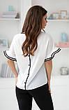 Елегантна біла жіноча блузка без рукав НОРМА 42,44,46 р., фото 2