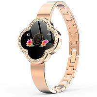 Женский фитнес браслет часы для спорта  SMART WATCH GOLD CLOVER