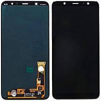 Дисплей для Samsung J810F Galaxy J8 (2018) + тачскрин, черный, оригинал (Китай)