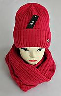 М 5062 Комплект жіночий-підлітковий шапка+хомут, марс,фліс розмір вільний, фото 1