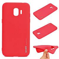 Чехол Силиконовый (TPU) SMTT накладка для Samsung J400F Galaxy J4 (2018) Red/Красный