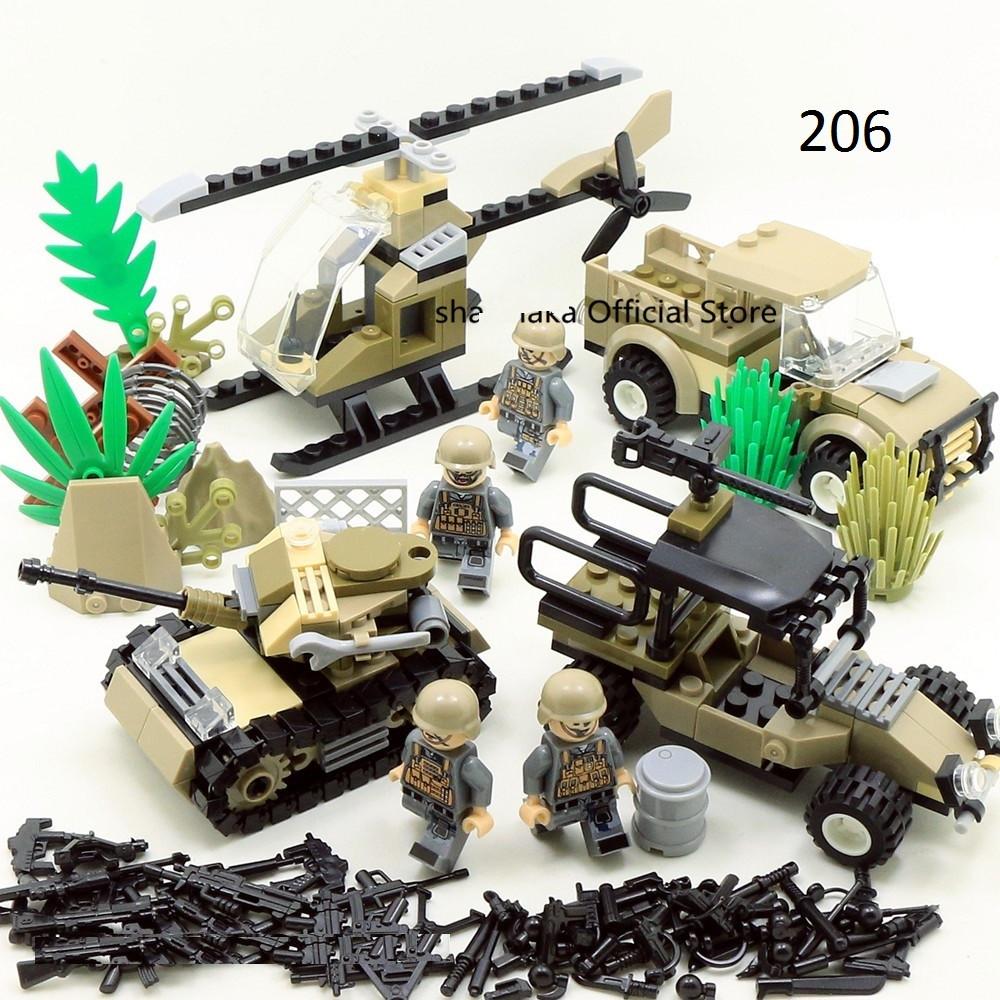 Десантный бой в красном море солдаты лего Lego BrickArms военные фигурки