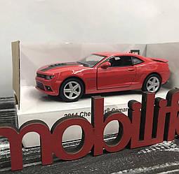 Машинка металлическая Kinsmart Chevrolet Camaro Красная /Открываются двери/