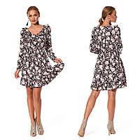Романтичное платье для девушки (р.44,48,50 ) софт черный